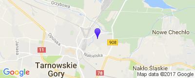 Google Map of Tarnowskie Góry, Wrzosowa 13